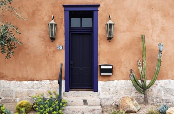 Blue Door, Brown Wall
