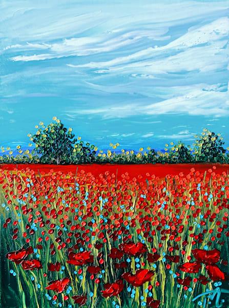 Under Blue Skies   Original Oil Painting Art | Tessa Nicole Art