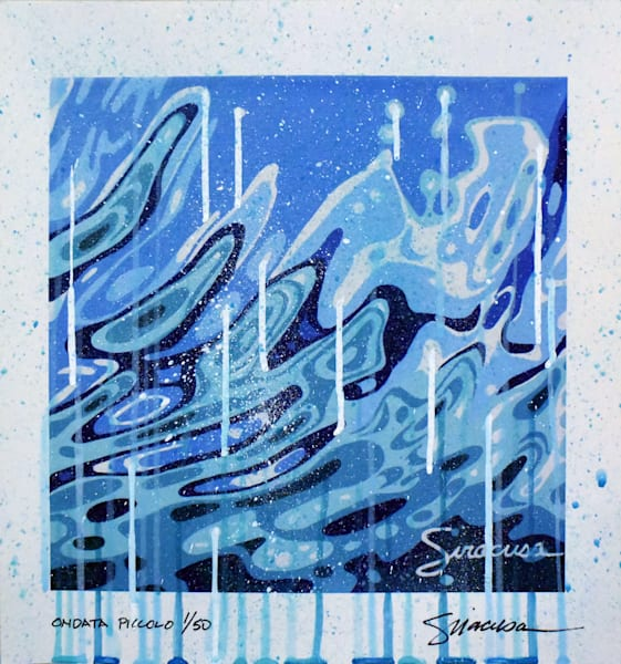Ondata Piccolo Dripped And Splattered Limited Edition Print Art | juliesiracusa