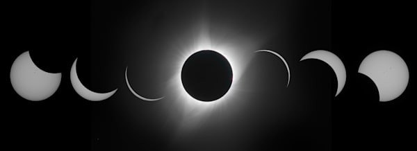Solar Eclipse Sequence Photography Art | Charlotte Gibb Photography