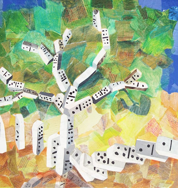 Stopping The Domino Effect   Original Art | Metaphysical Art Gallery