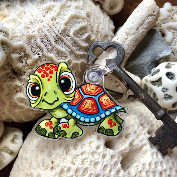 keychain, baby turtle, acrylic keychains, Turtle keychain