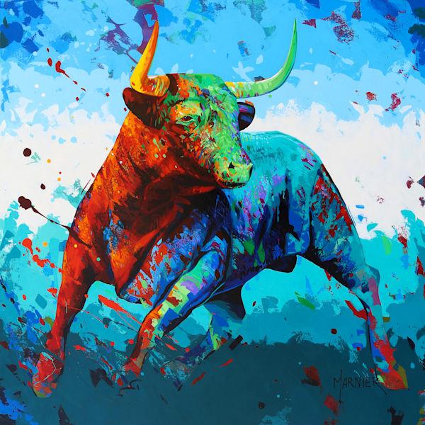 Jack, Bull, Marnier Art, Acrylic Painting