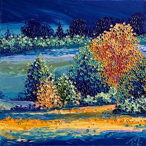 Blue Suede Views   Original Oil Painting Art | Tessa Nicole Art