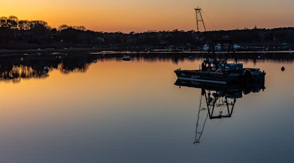 The Mooring Barge Photography Art   The Colors of Chatham