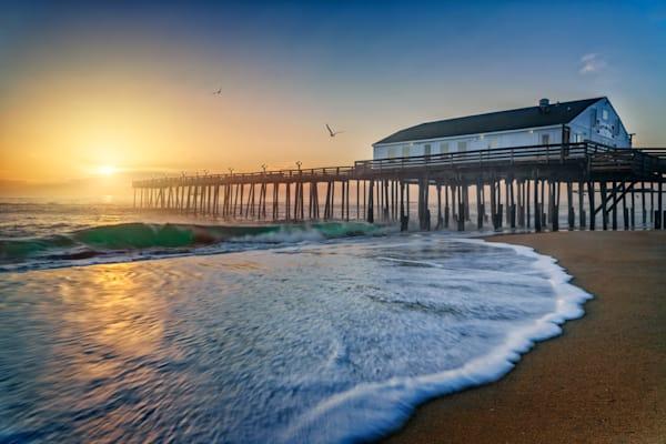 Sunrise at Kitty Hawk Pier | Shop Photography by Rick Berk