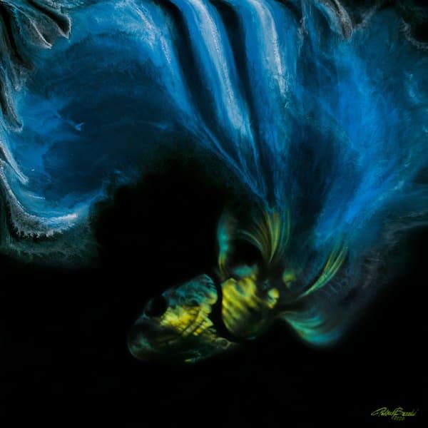 Betta Fish Blue (Original) Art | Patrick Bezalel Pte Ltd