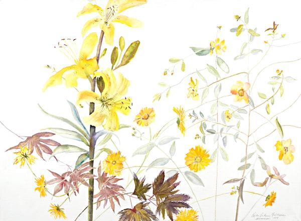 Lemon Yellow Lilly Art | Ruth Feldman Fine Art