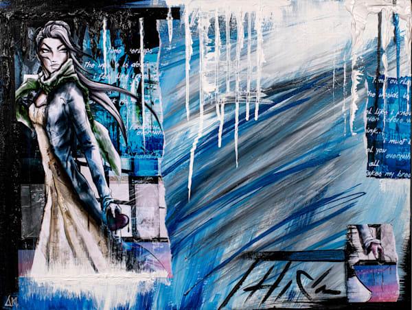 Sometimes   The Acrylic Remix Art   Angel Trip Studio