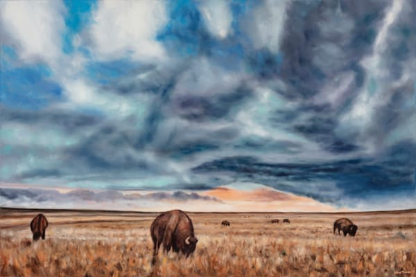 Captivating Landscape Paintings of the Flint Hills and Wyoming