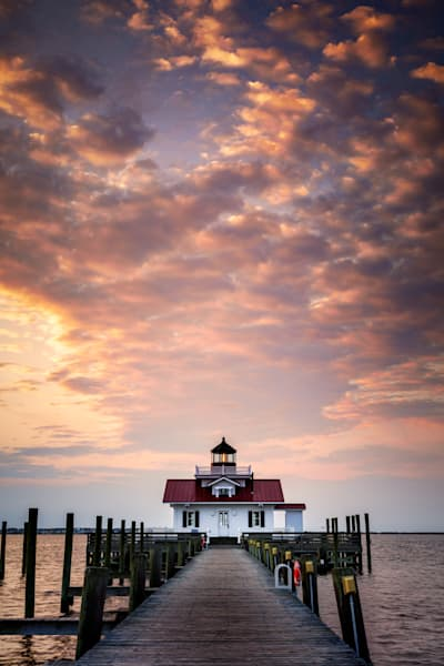 Dawn at Roanoke Marshes Lighthouse | Shop Photography by Rick Berk
