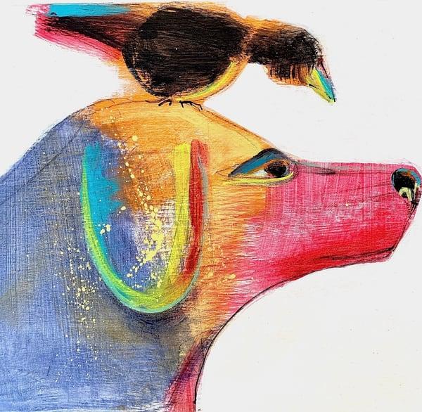 Bird Dog Art | L BaLoMbiNi / red paint studio