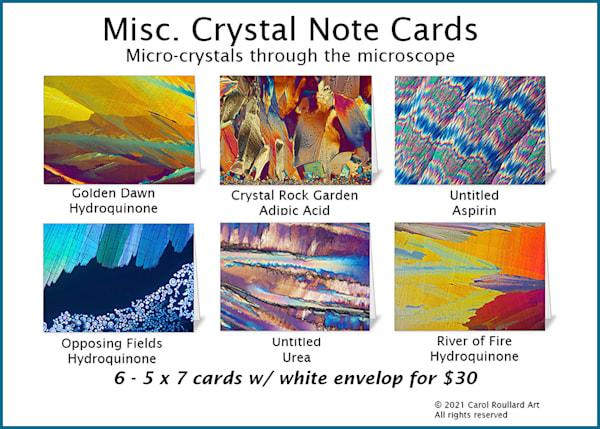 Misc. 6 Pack Of Note Card | Carol Roullard Art