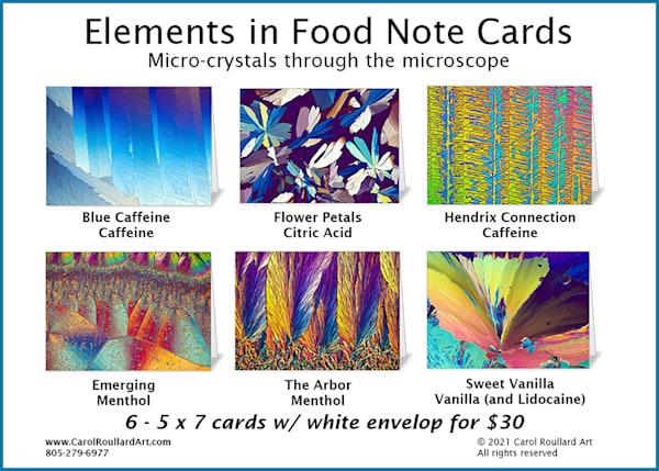 Elements In Food 6 Pack Of Note Cards | Carol Roullard Art