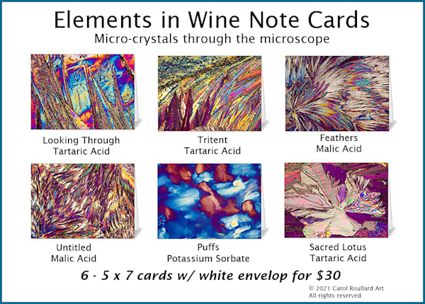 Micro Crystal Note Card Sets