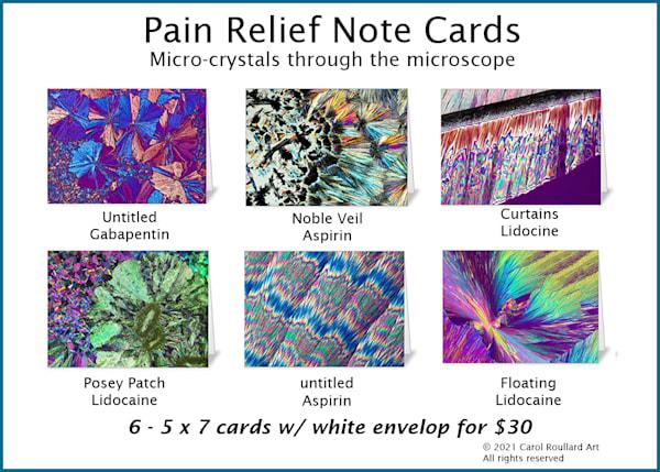 Pain Relief 6 Pack Of Note Cards | Carol Roullard Art