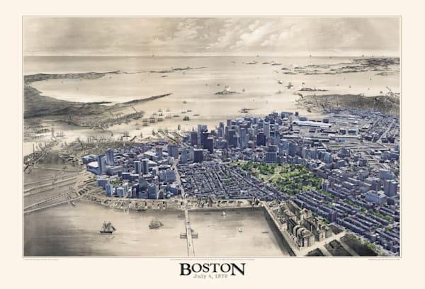 View Of Boston, July 4th 1870 Art   Mark Hersch Photography