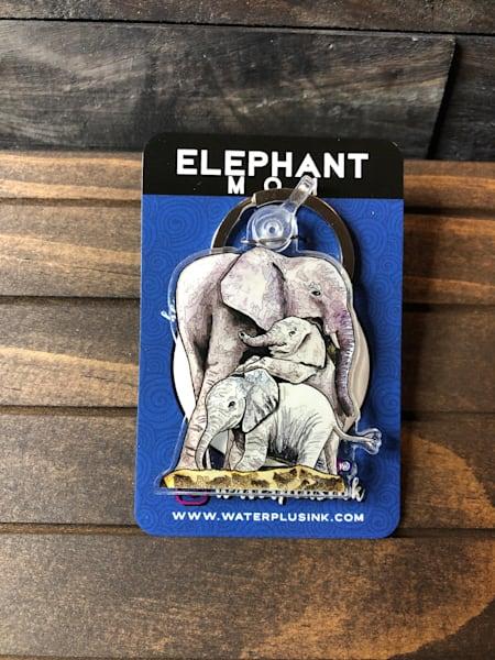Elephant Mom Keychain | Water+Ink Studios