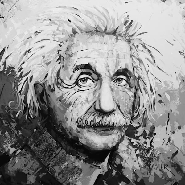 Albert Einstein Iii Black & White Art | Marnier