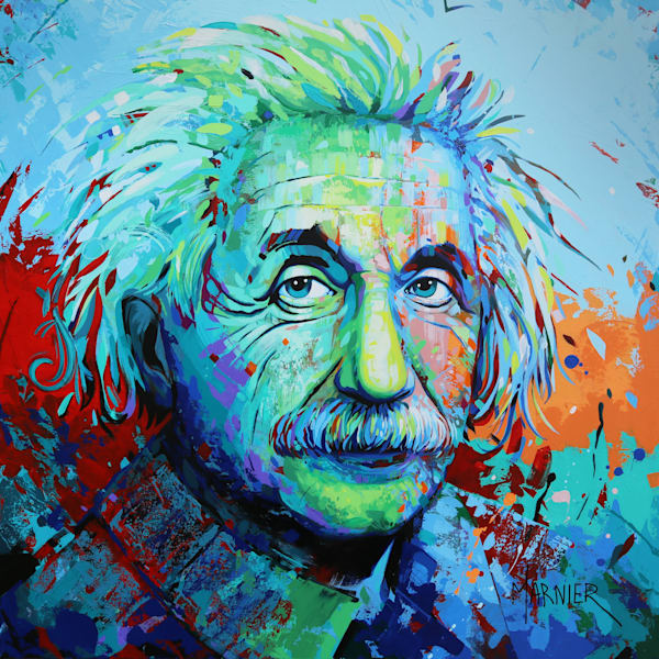 Albert Einstein, Marnier Painting, Art Prints, HD Quality