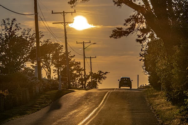 Driving Into The Sunset Photography Art | The Colors of Chatham