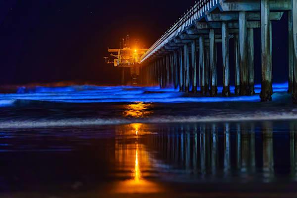 "Original 120"" x  60"" Bioluminescence at Scripps Pier, La Jolla"