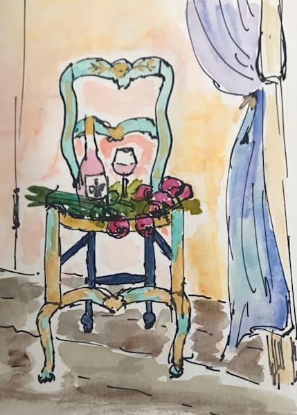 Rosé and Roses (Original)   Mary Planding