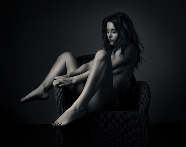 Odette In Wicker Chair Photography Art | Dan Katz, Inc.