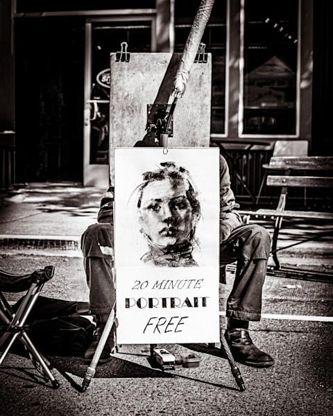 Art Print of Portrait Artist