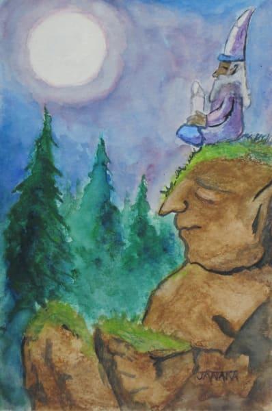 Moon Gazing On A Troll Art | janakastagnaro