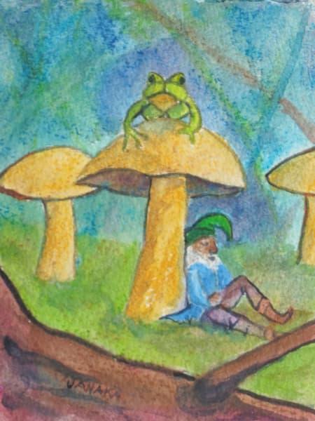 Dozing Under Mushroom Art | janakastagnaro