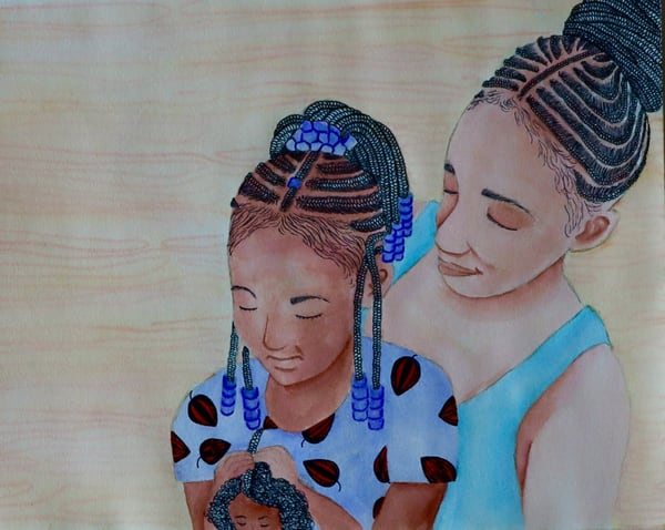 Mama Braids #1 Art   InspiringLee