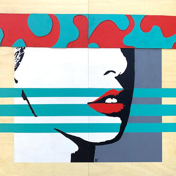 Red Lips,  Original Art | Jon Savage Contemporary Art