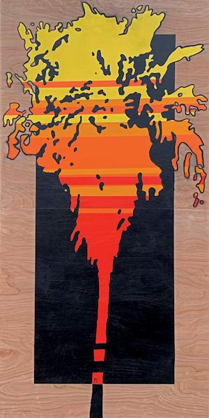 Sunset Palm Tree,  Original Art | Jon Savage Contemporary Art