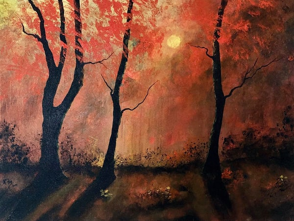 Reflection In The Fall Forest Art | House of Fey Art