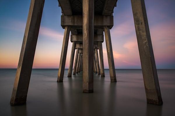 Pier Symmetry  Photography Art | Silver Sun Photography