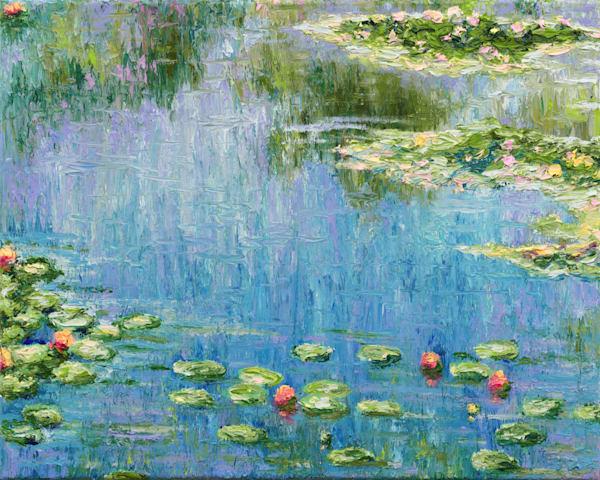Ode To Claude, Water Lilies 1919  • Original Art | Kate Wilson Fine Art
