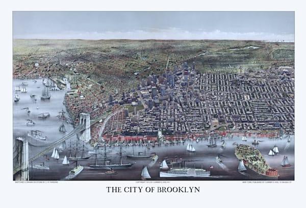 The City Of Brooklyn 1879 Art   Mark Hersch Photography