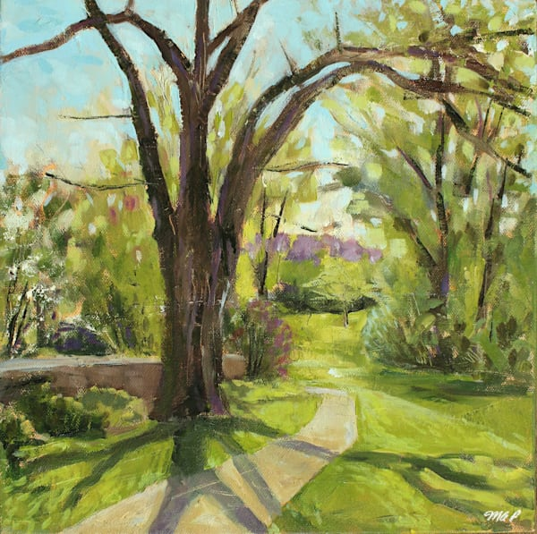 Midwest Spring Landscape Painting