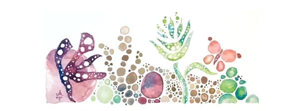 Mermaid Garden Mug Art | Amanda Faith Alaska Paintings / Estuary Arts, LLC