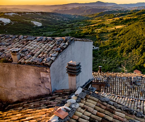 View From Window, Pennapiedimonte, Italy Photography Art | Ben Asen Photography