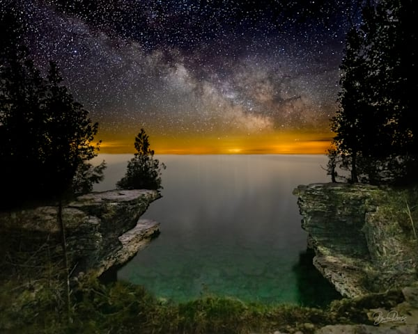 The Milky Way at Cave Point