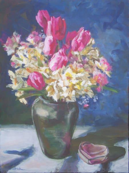 Pink Floral Art | Strickly Art