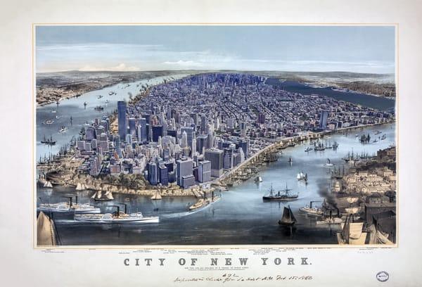 City Of New York 1856 Art   Mark Hersch Photography