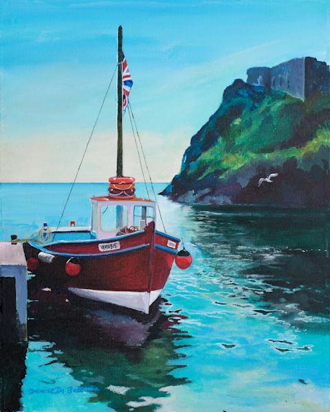 Tenby Boats Original Painting