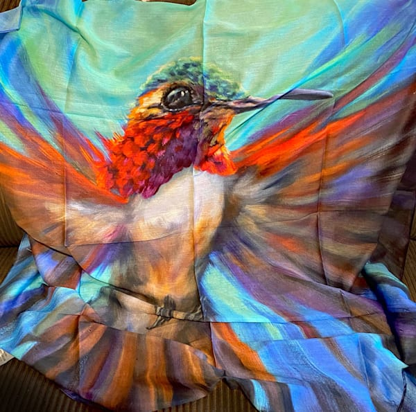 "38"" Square Silk Scarf Helos: Declaration    Ans Taylor Art"