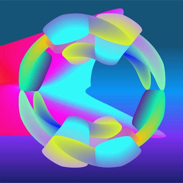 Caroline Geys   Dancing Modules   Digital art   Circular