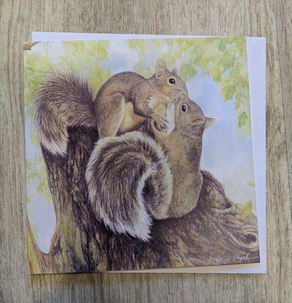 Kissing Squirrels Card | Lori Vogel Studio