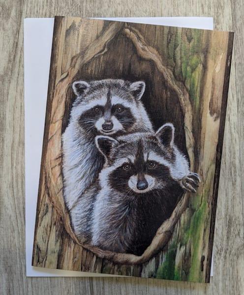 Raccoon Couple Card | Lori Vogel Studio