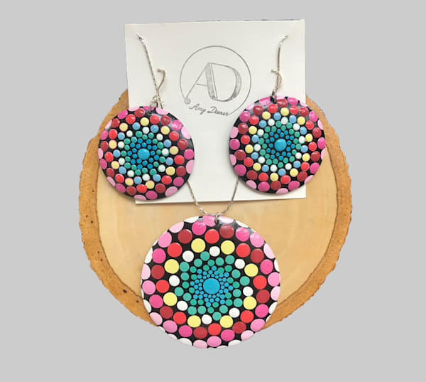 Lollipop Pendant Earrings Set (D)